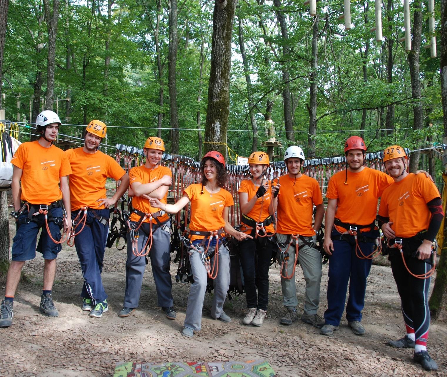 Echipa parc aventura Cluj